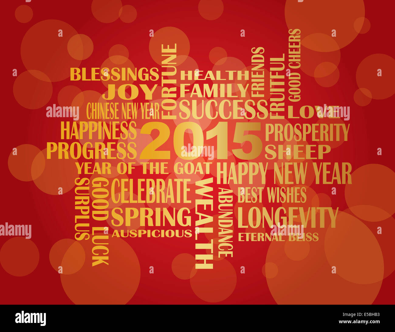 2015 chinese lunar new year english greetings text wishing health good fortune prosperity happiness in the year of the goat on r