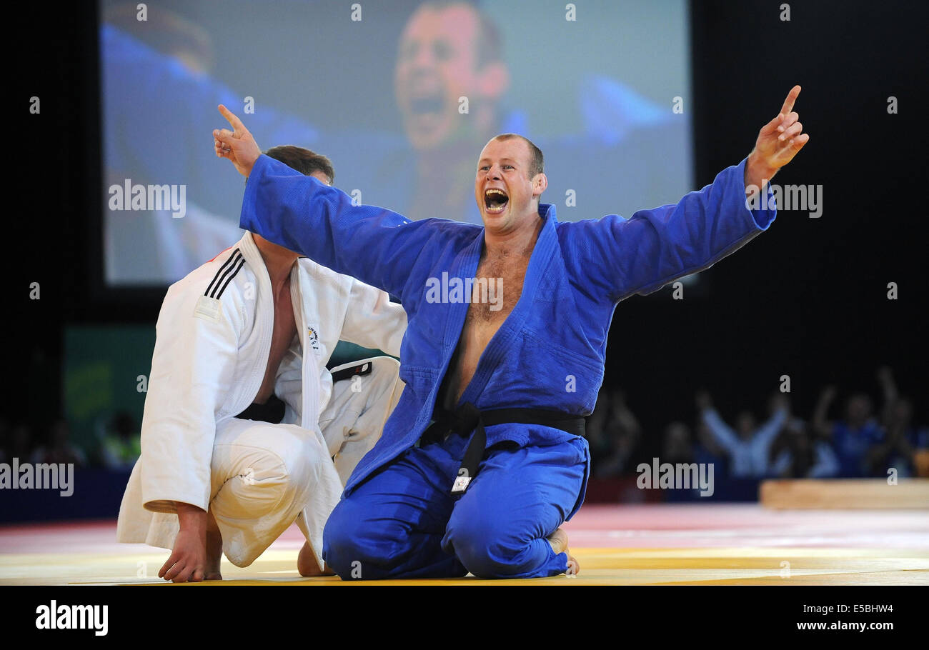 CHRISTOPHER SHERRINGTON JUDO 100 KG SECC GLASGOW SCOTLAND 26 July 2014 - Stock Image