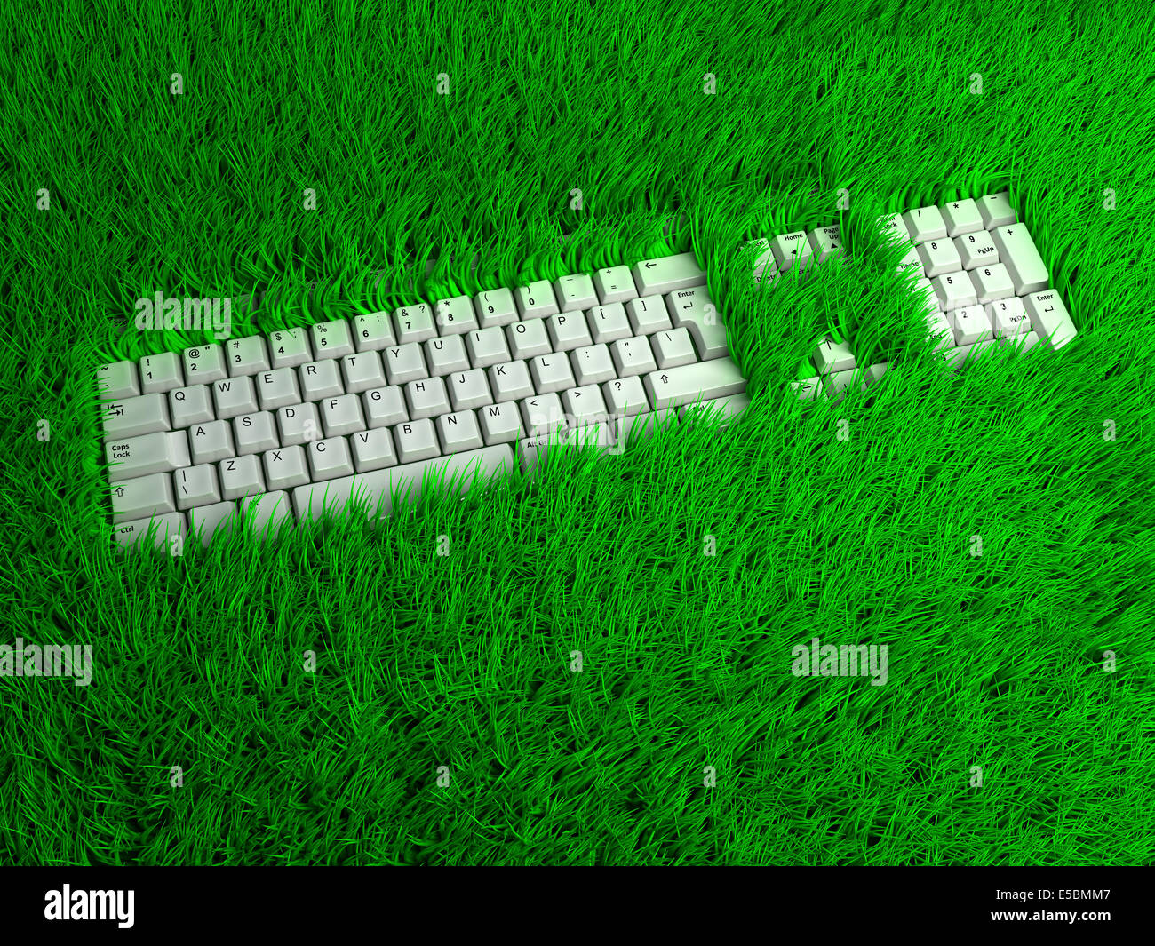 super ergonomic keyboard for freelance. conceptual 3d illustration - Stock Image