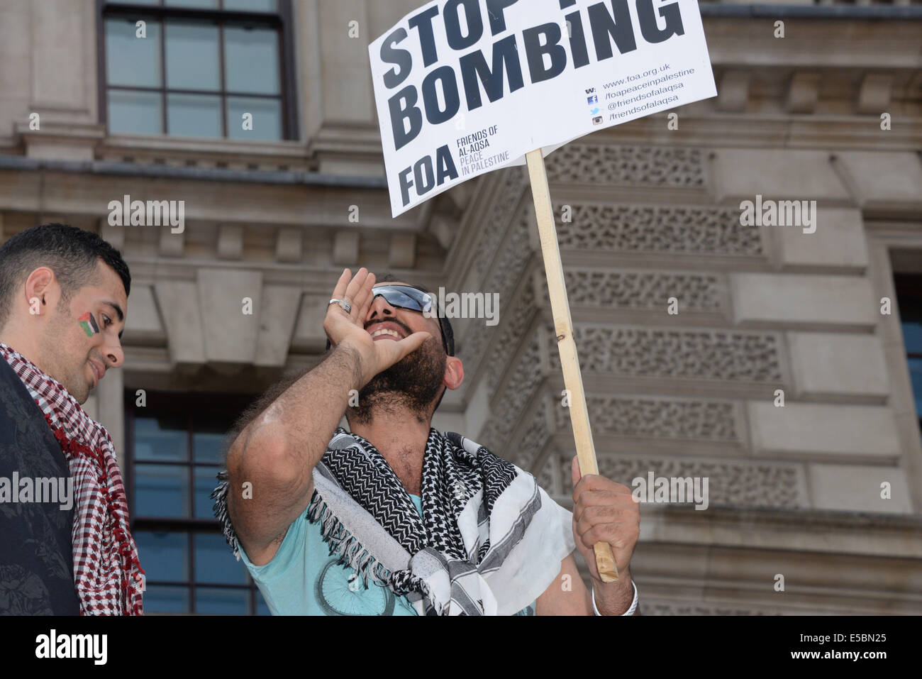 London, UK. 26th July, 2014. Stop the 'massacre' in Gaza protest. A demonstration called by: Stop the War Coalition, Stock Photo