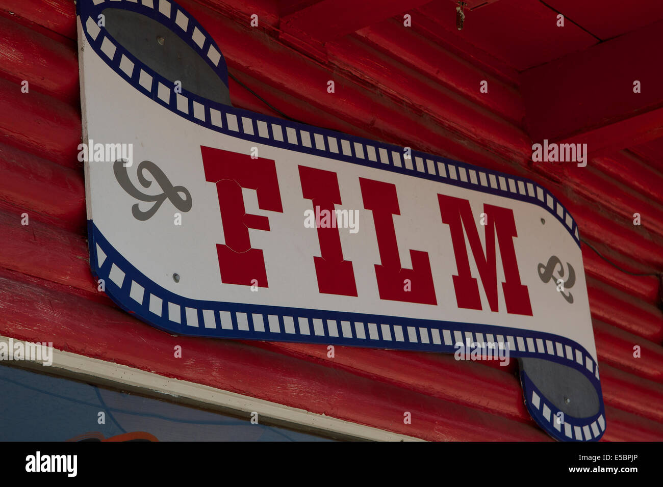 Camera film sign outside a sporting store in Bridgeport California Stock Photo