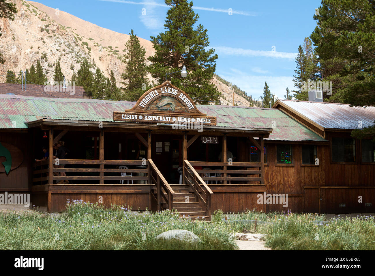 Wood Built With Corrugated Metal Roof The Virginia Lakes