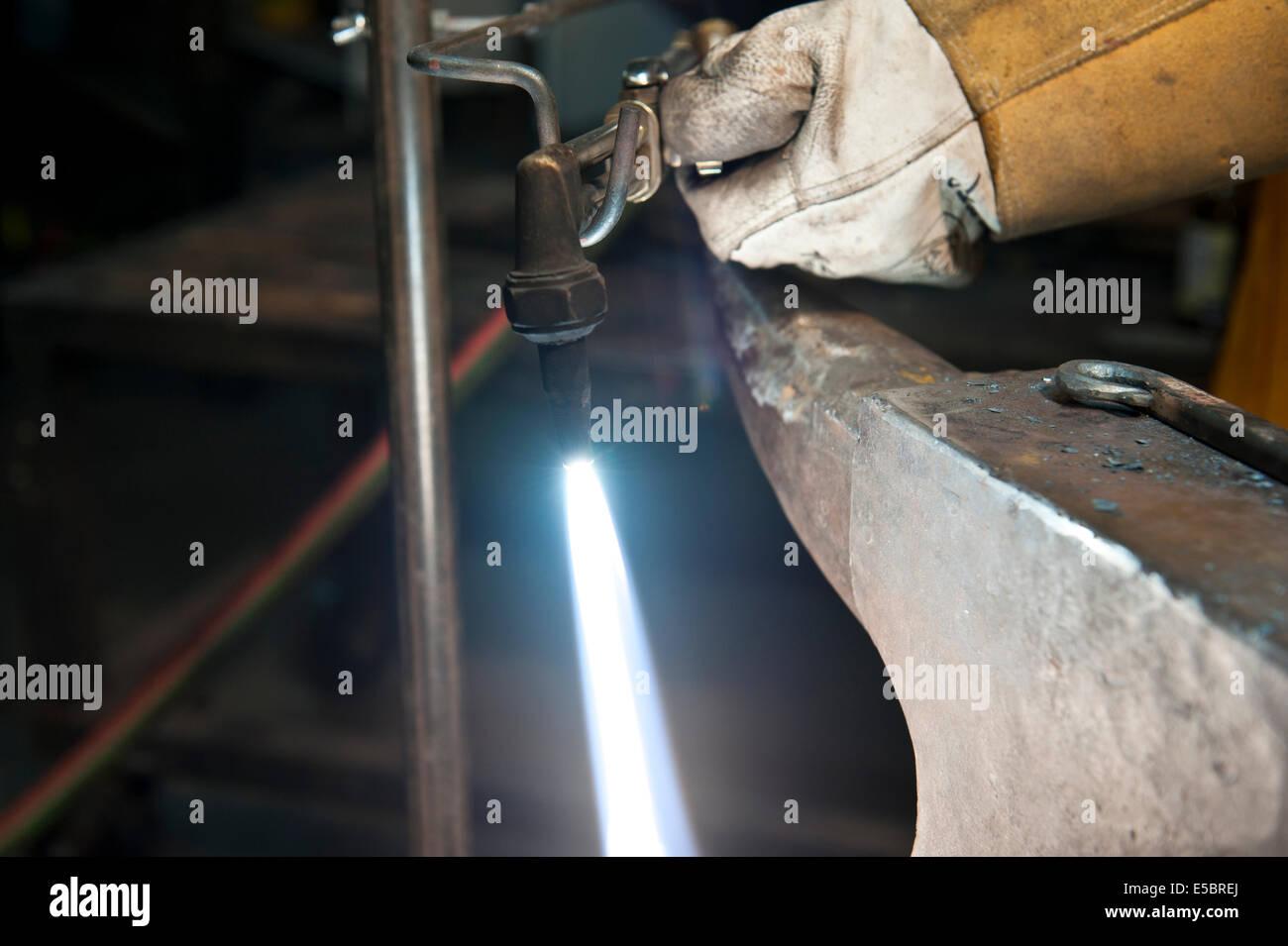 Skilled Metal Fabricator Stock Photos & Skilled Metal