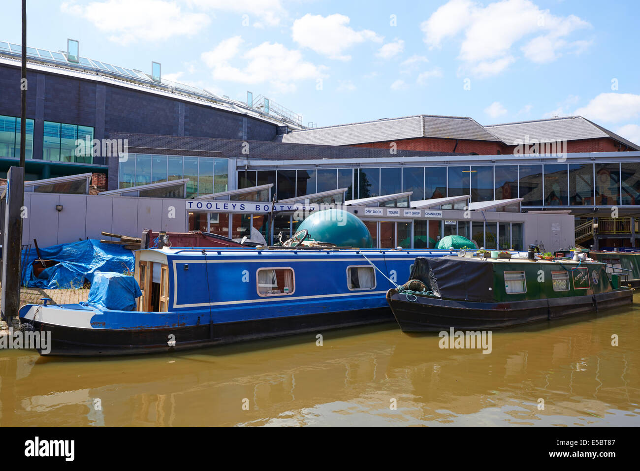 Tooley's Boatyard The Oldest Working Inland Waterway Dry Dock Banbury Oxfordshire UK - Stock Image
