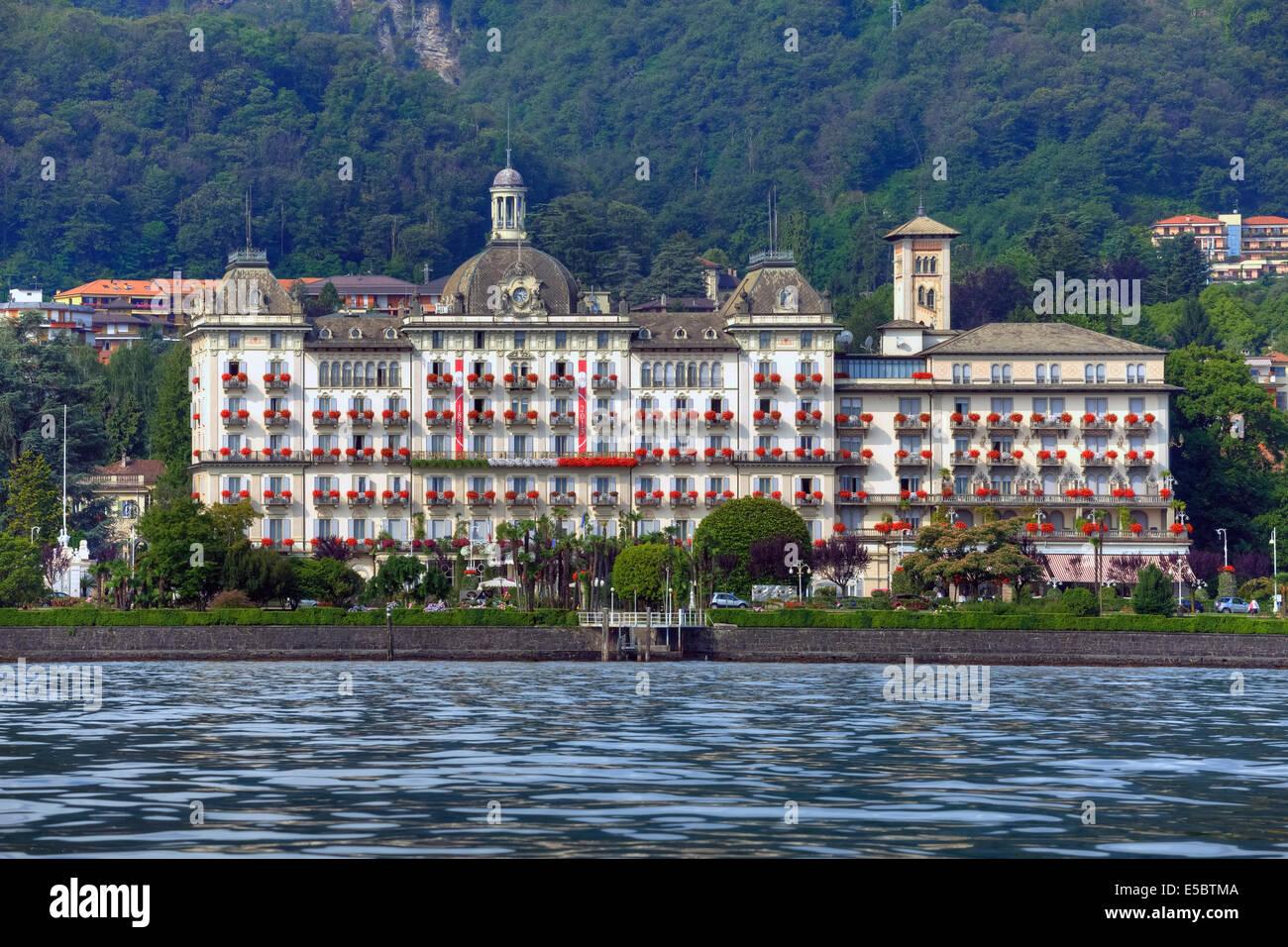 Grand Hotel des Iles Borromées, Stresa, Piedmont, Italy - Stock Image
