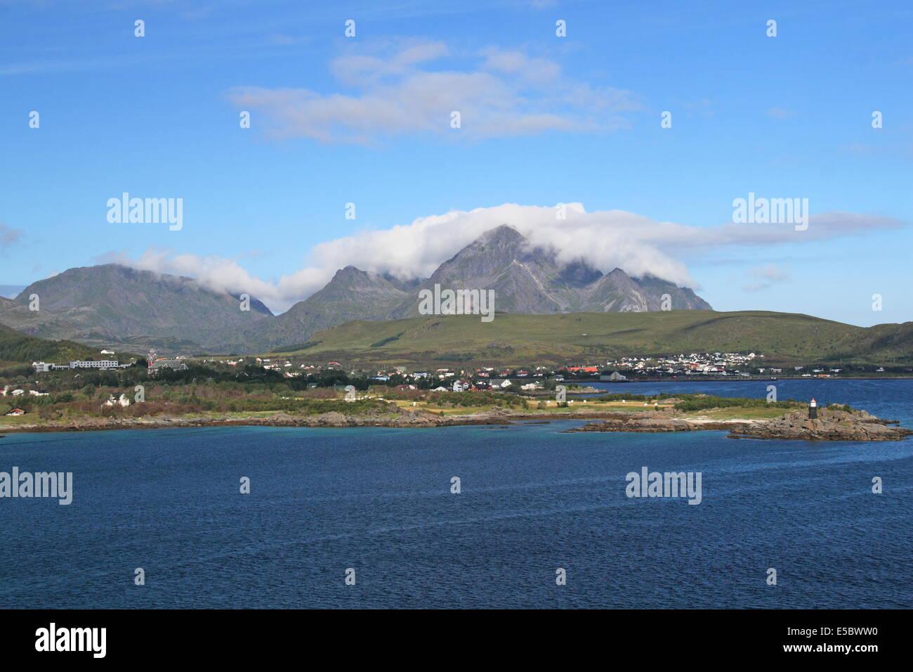 Gravdal, Vestvågøy, Vestvågøya, Lofoten Islands, Nordland, Norway, Europe - Stock Image