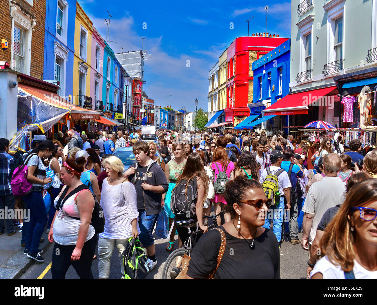 Portobello Road is a street in the Notting Hill - Stock Image