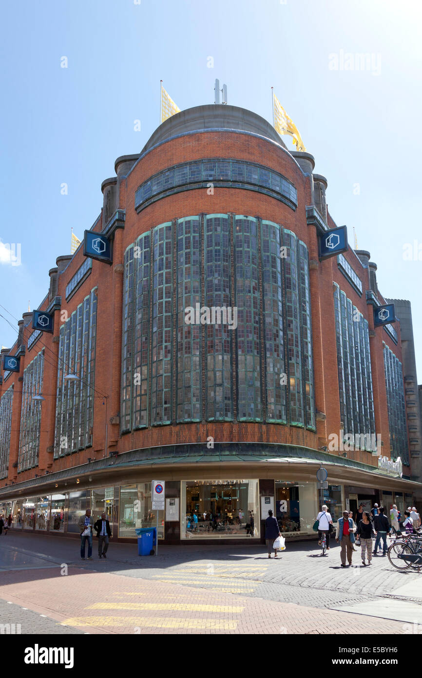 Department store The Bijenkorf in The Hague, Holland - Stock Image