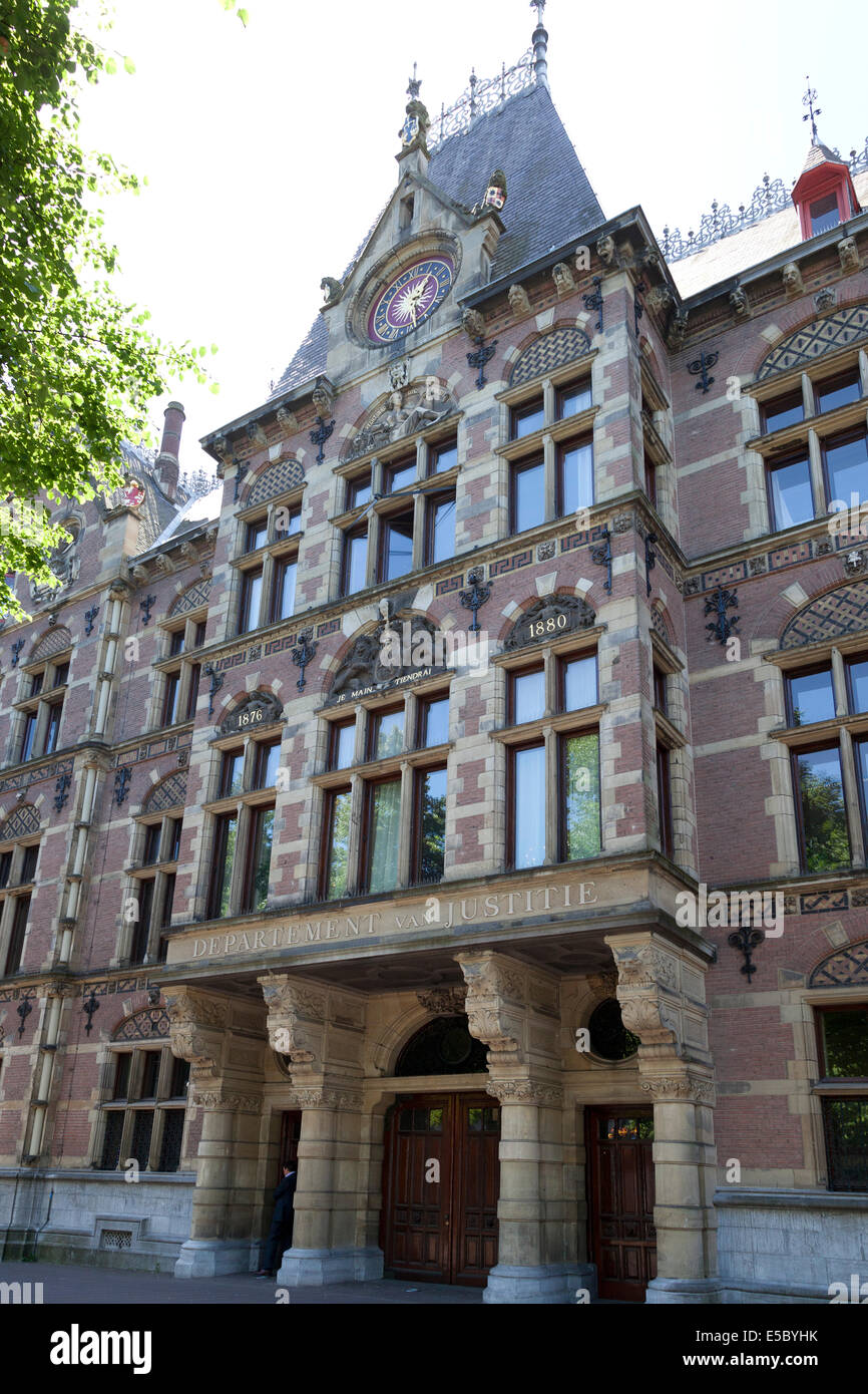 Ministry of Justice at the Plein in The Hague , Holland - Stock Image