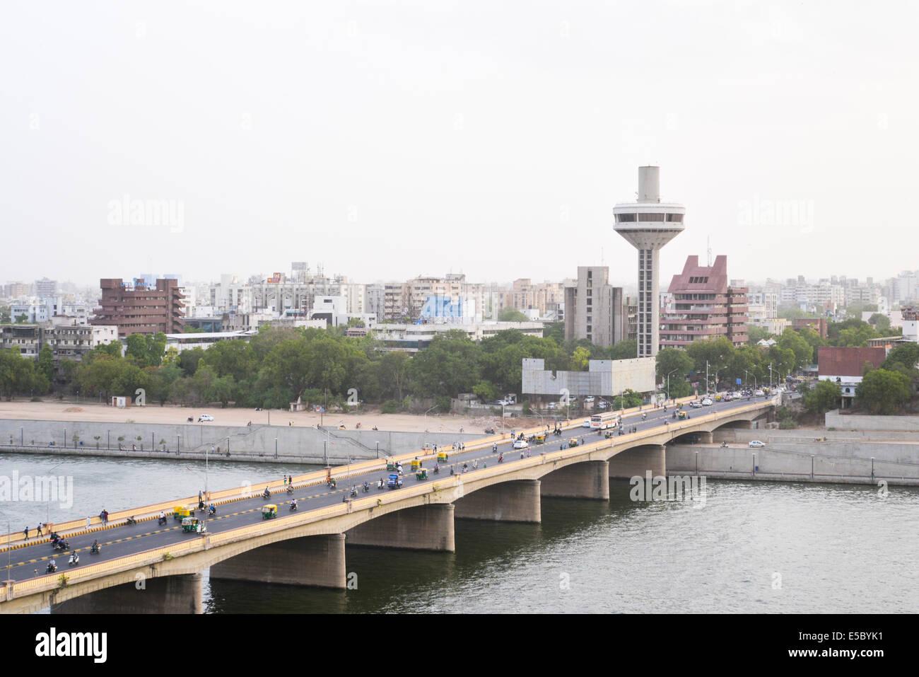 Ahmedabad riverfront. - Stock Image