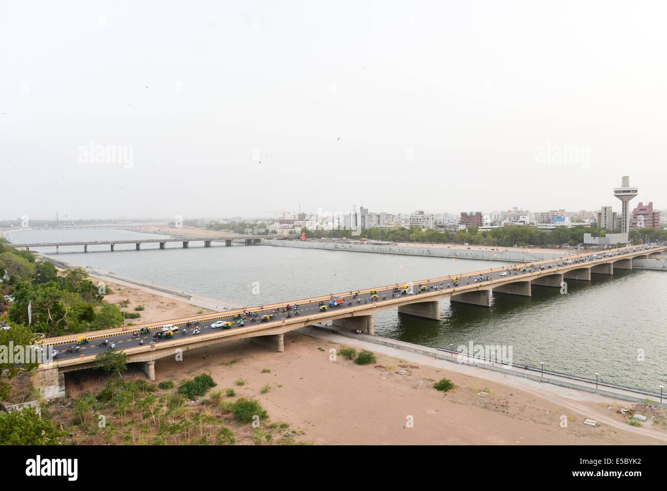 Sabarmati river front view. - Stock Image