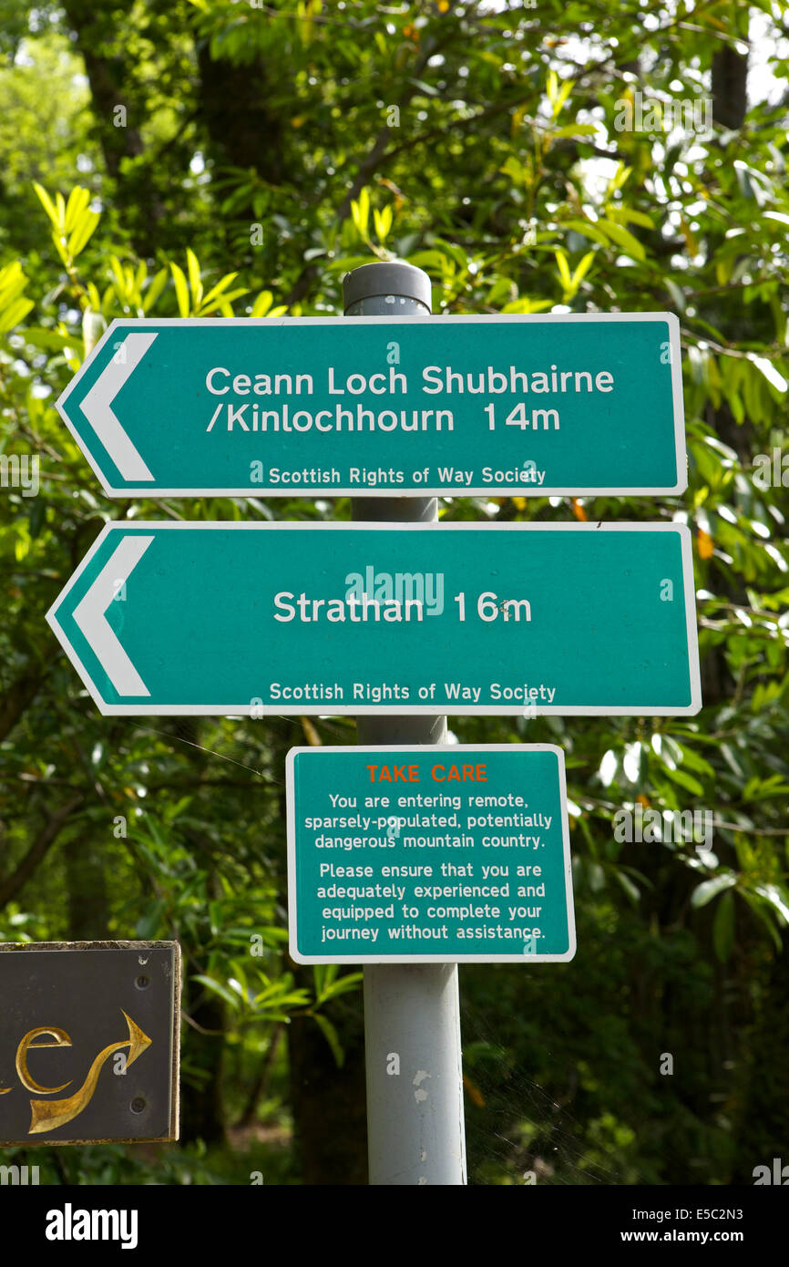 Sign in Knoydart - Stock Image