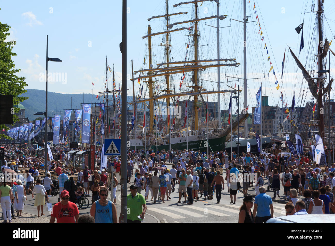 Tall Ship Races Bergen, Norway 2014 - Stock Image