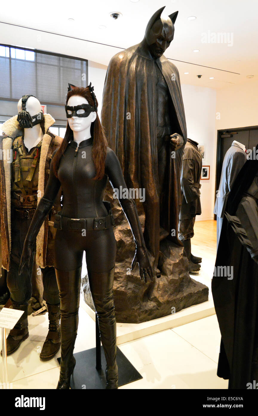 Costumes from the Batman and Batwoman film franchise at the Warner Bros Studio in Burbank Los Angeles. & Costumes from the Batman and Batwoman film franchise at the Warner ...