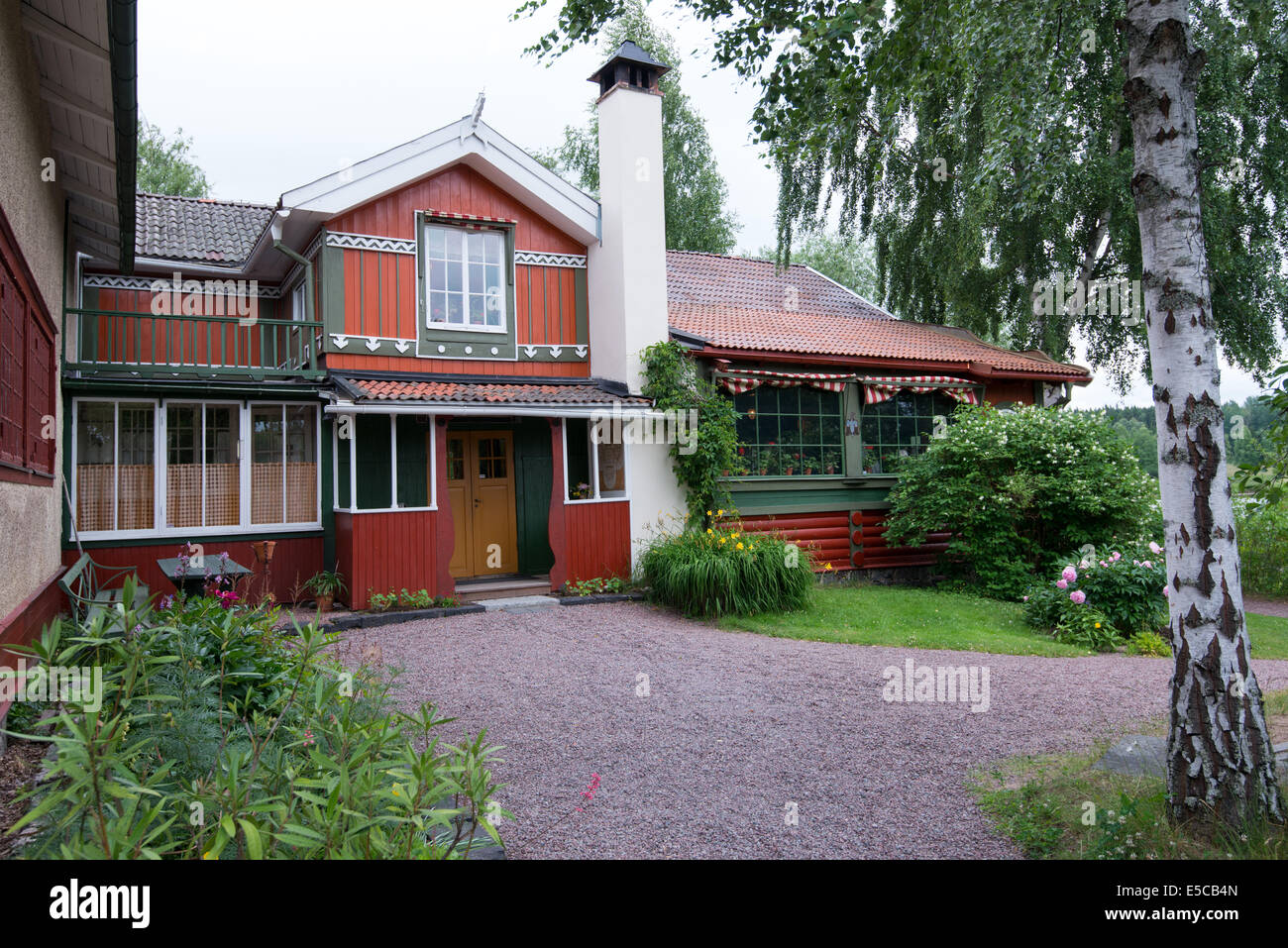 The world famous home of Swedish artists Carl and Karin Larsson at Lilla Hyttnas in Sundborn, Sweden - Stock Image
