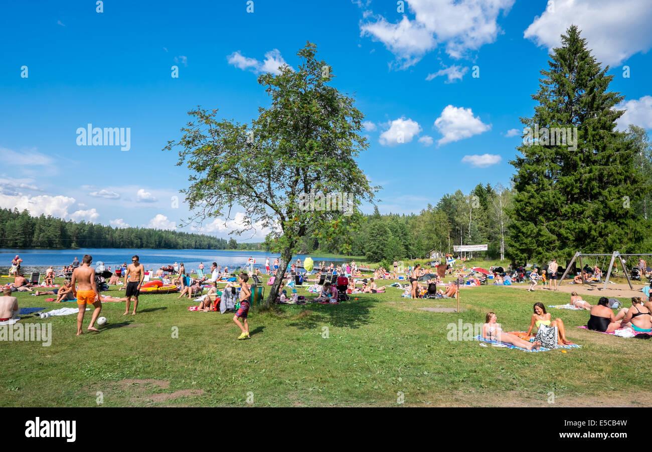 Hot summer in Sweden - Stock Image
