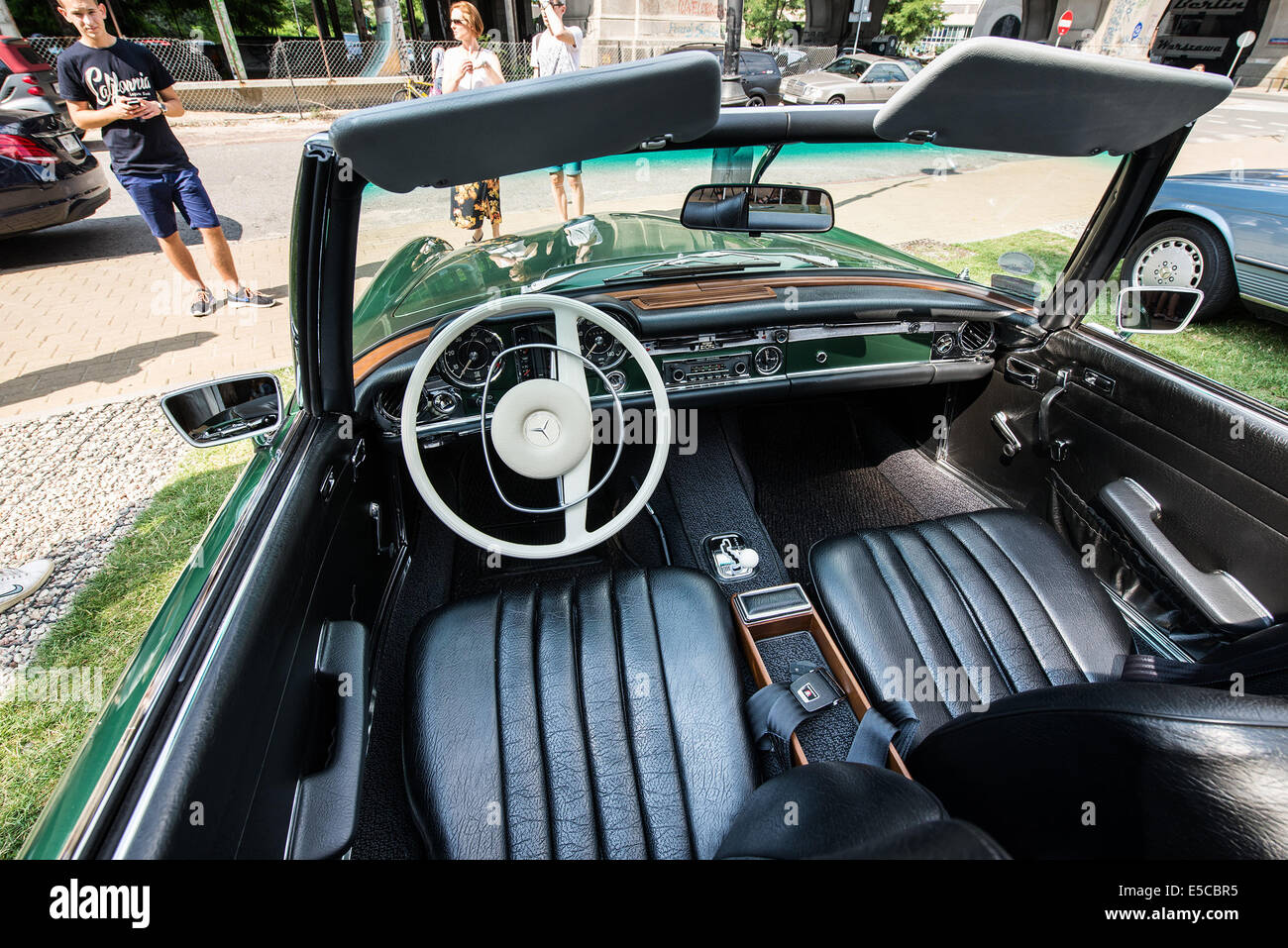 Interior Of Mercedes Benz W113 280 SL Cabrio During Vintage Cars Show In Station Bar Warsaw Poland Credit Kpzfoto Alamy Live News