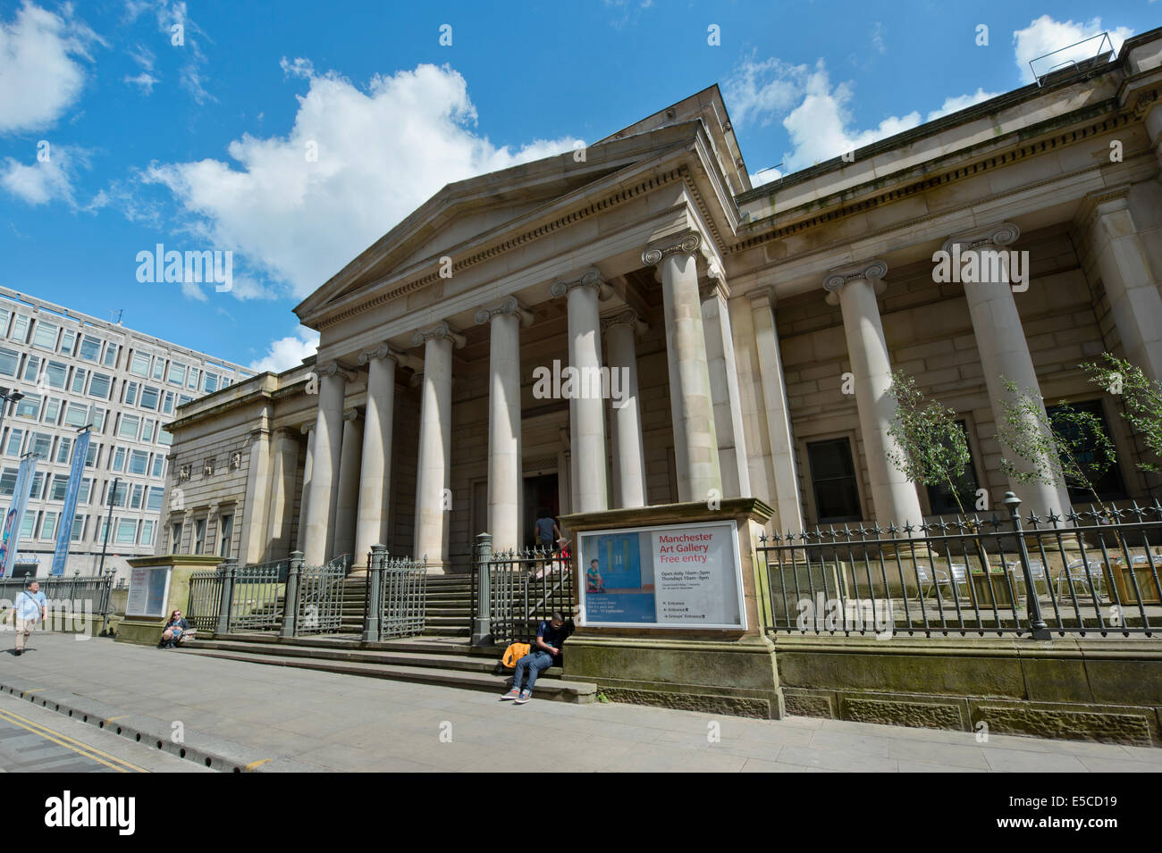 The Grade I listed Manchester Art Gallery building located on Mosley Street in the city centre of Manchester, UK. - Stock Image