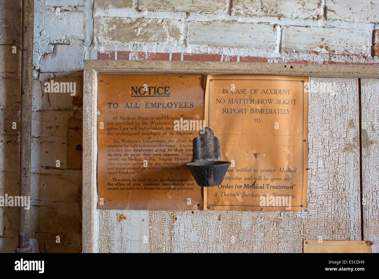Neligh, Nebraska - The Neligh Mill Historic Site, a 19th century water-powered flour mill. - Stock Image