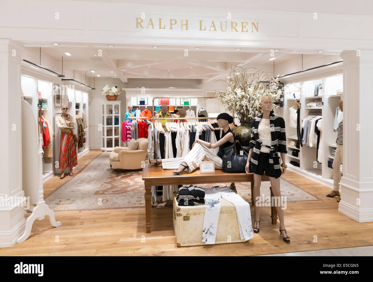 Ralph Lauren womens fashion clothing store in Tokyo Japan - Stock Image