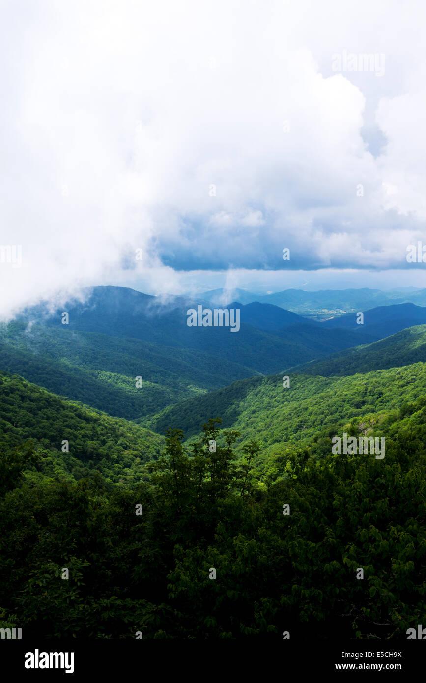 Craggy Gardens Blue Ridge Parkway, Asheville, North Carolina, (Buncombe County) - Stock Image