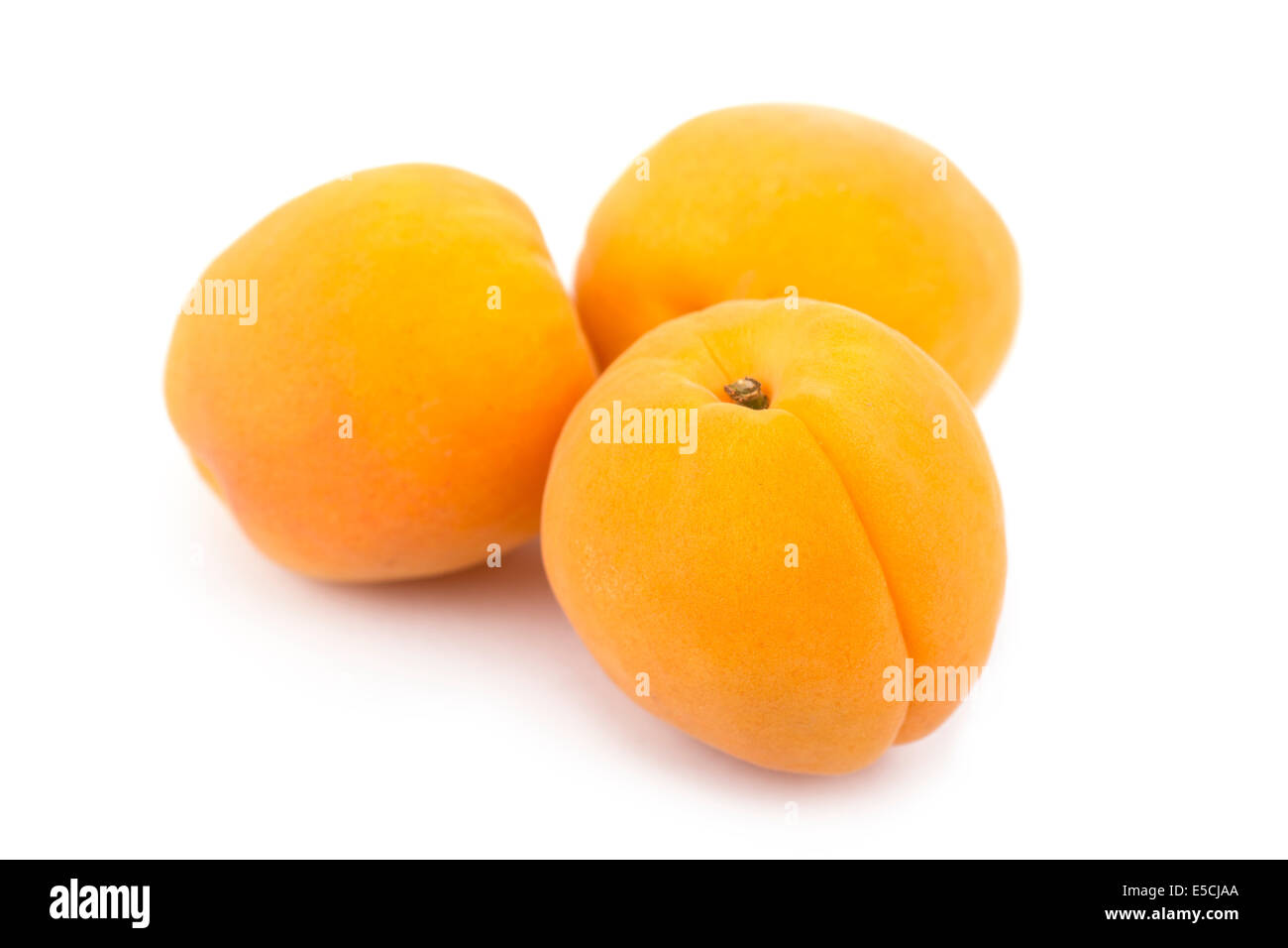 Apricots Cut Out - Stock Image