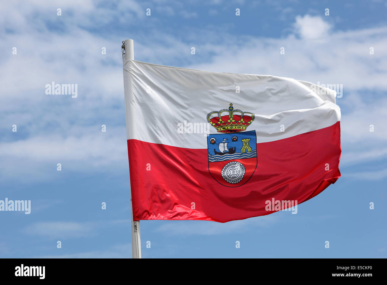 Flag of Cantabria, Spain - Stock Image