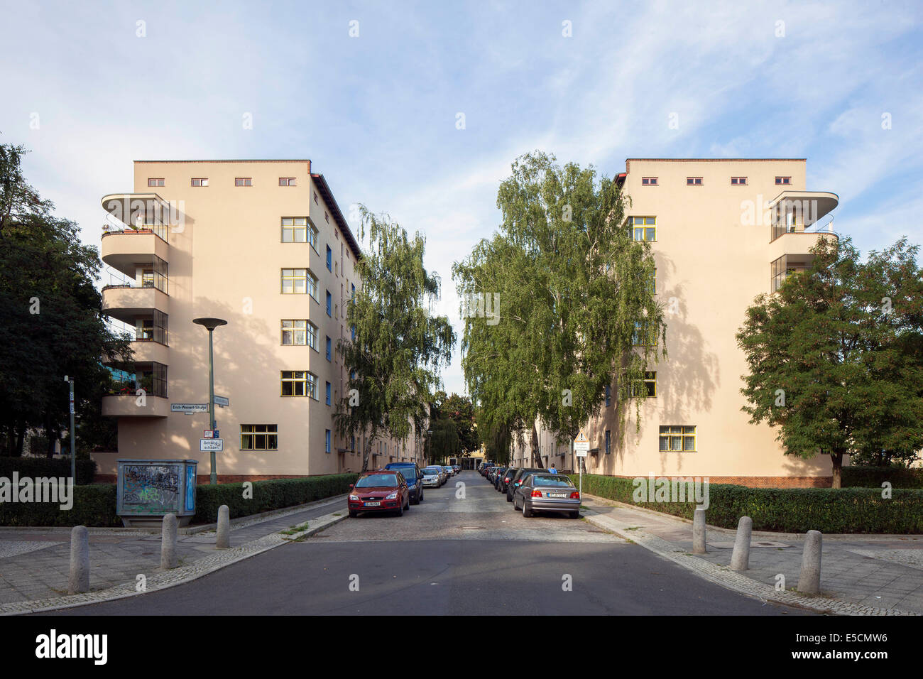 Carl Legien estate, Modernism, New Objectivity, UNESCO World Heritage Site, Prenzlauer Berg, Berlin, Germany - Stock Image
