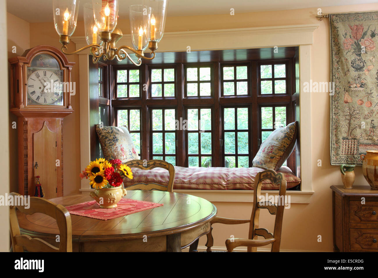 Cozy And Romantic Dining Room, With Window Seat And