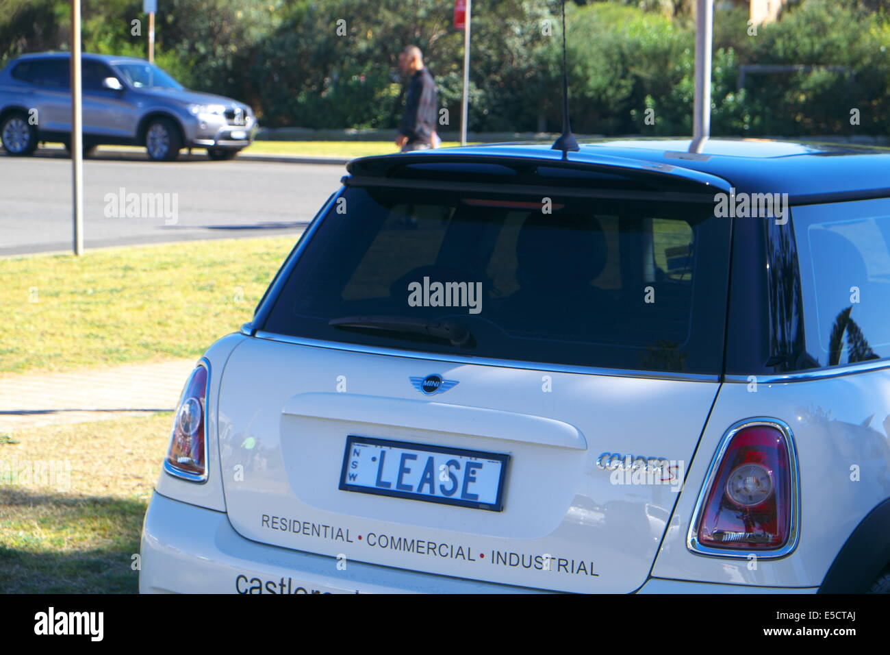 personalised number plate ' lease' for a real estate agent in Sydney,australia - Stock Image