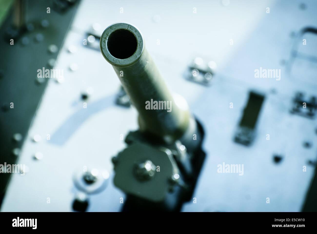 Detail of the german machine gun of World War II. - Stock Image