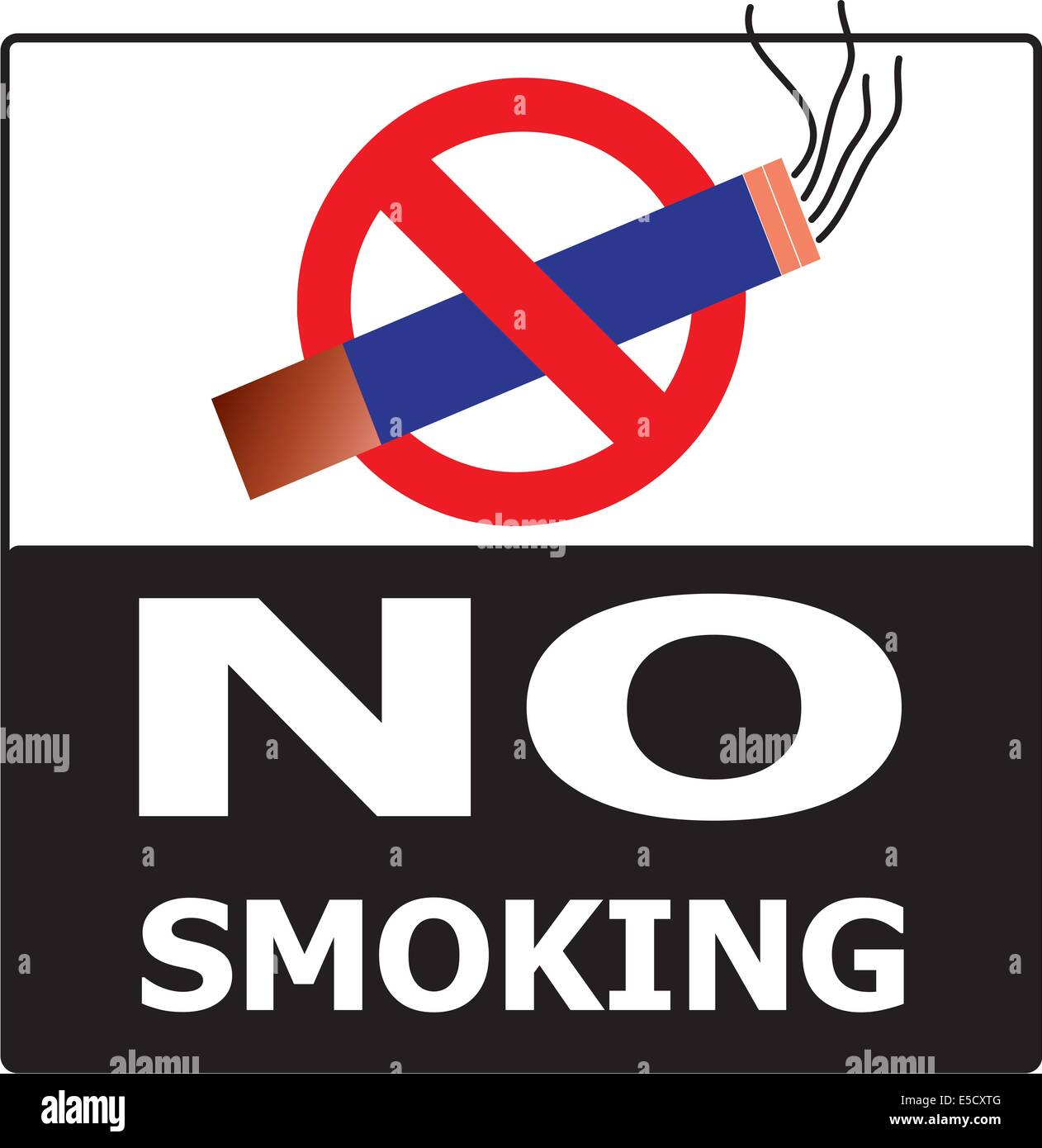 No Smoking Cigarette Area Sign For Public Health Vector On White