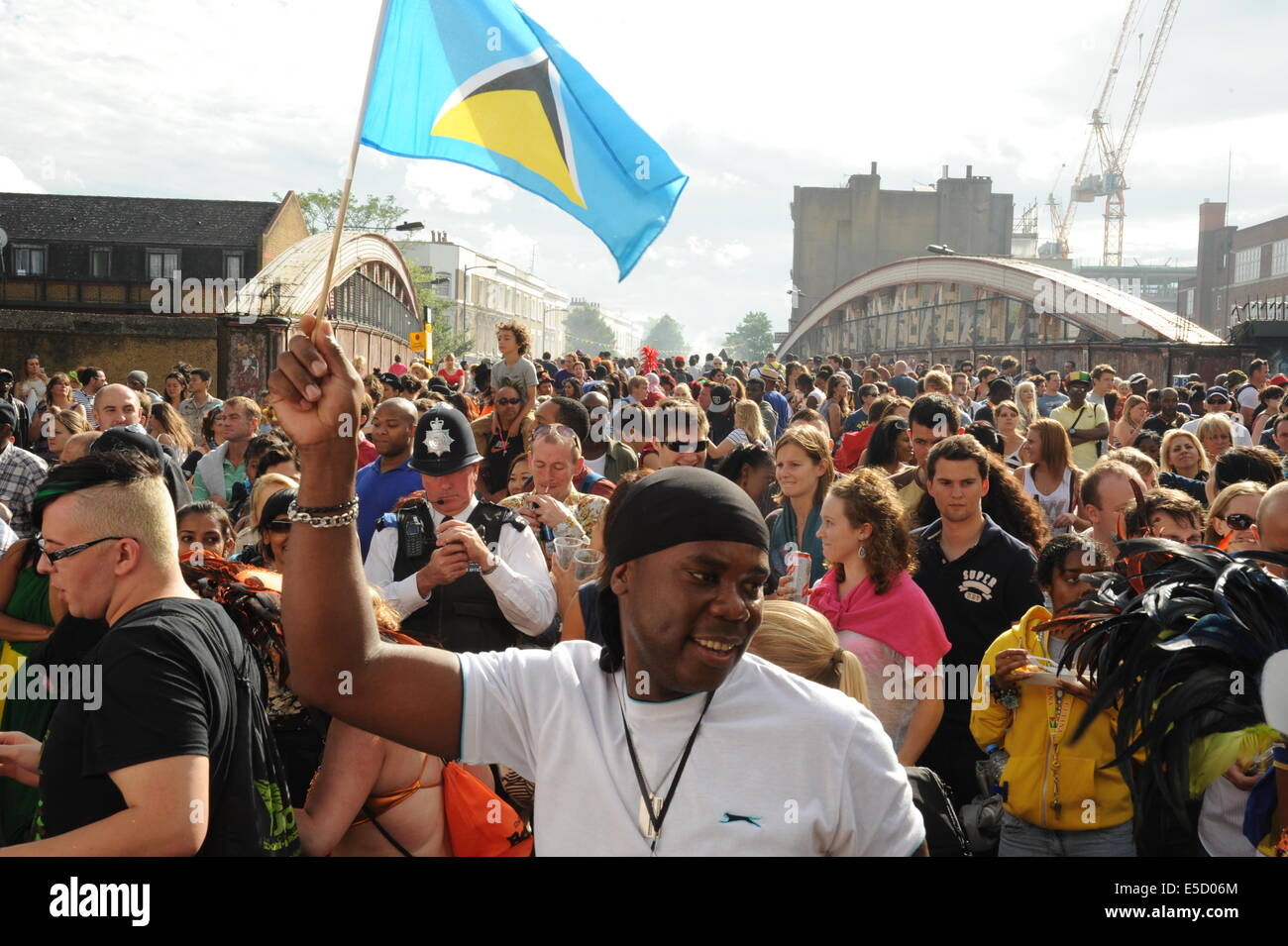 Notting Hill Carnival crowds - Stock Image