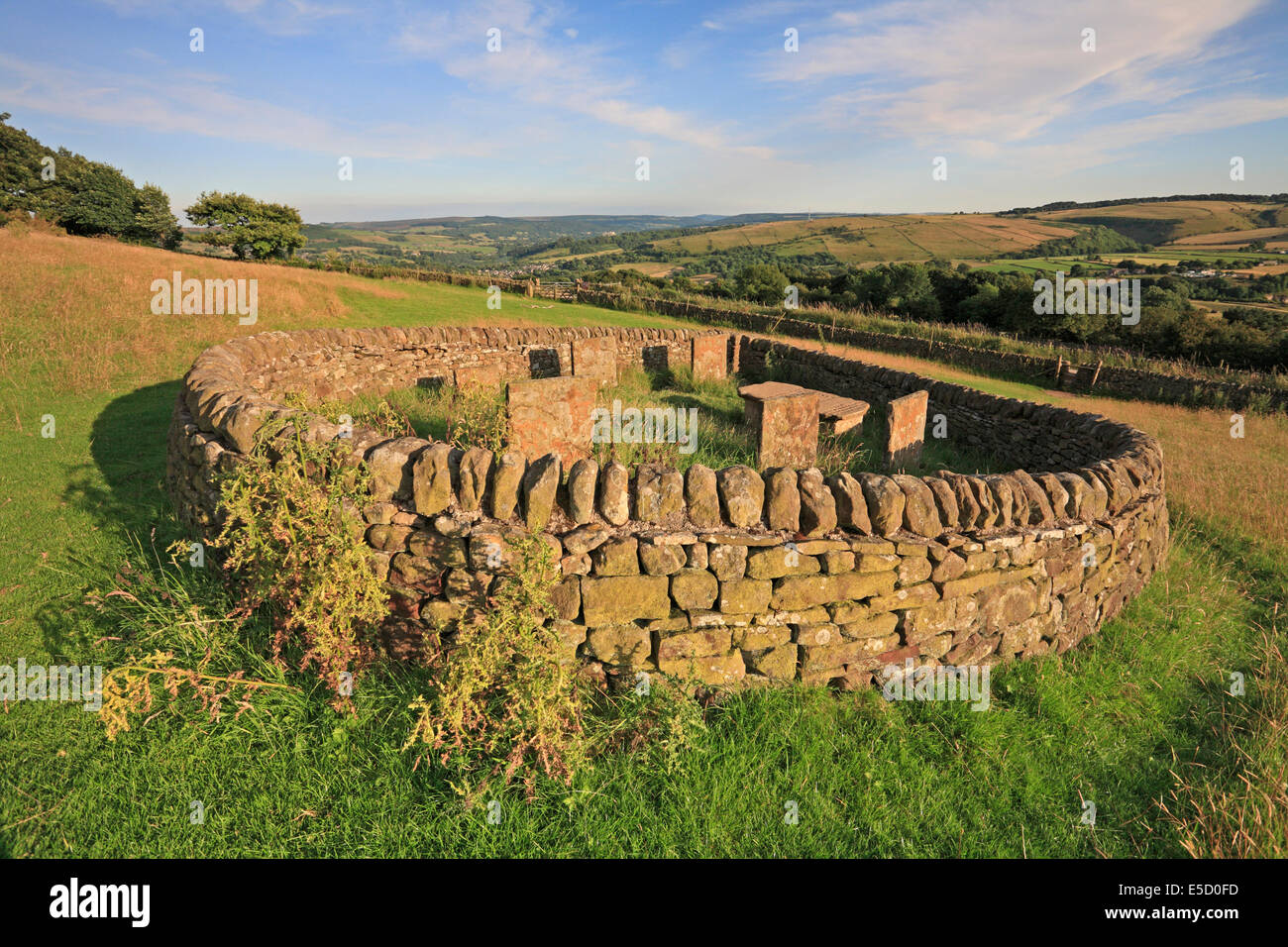 The Riley Graves, Eyam plague village, Derbyshire, Peak District National Park, England, UK. - Stock Image