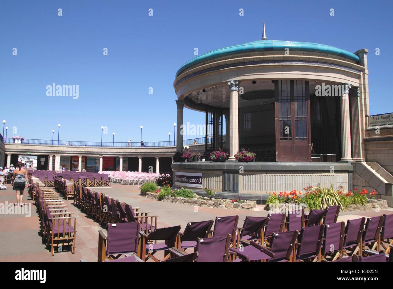 Eastbourne bandstand East Sussex - Stock Image