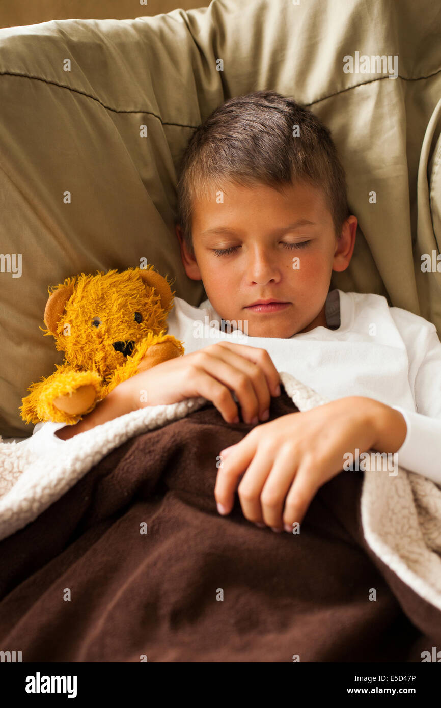 sleeping child - Stock Image