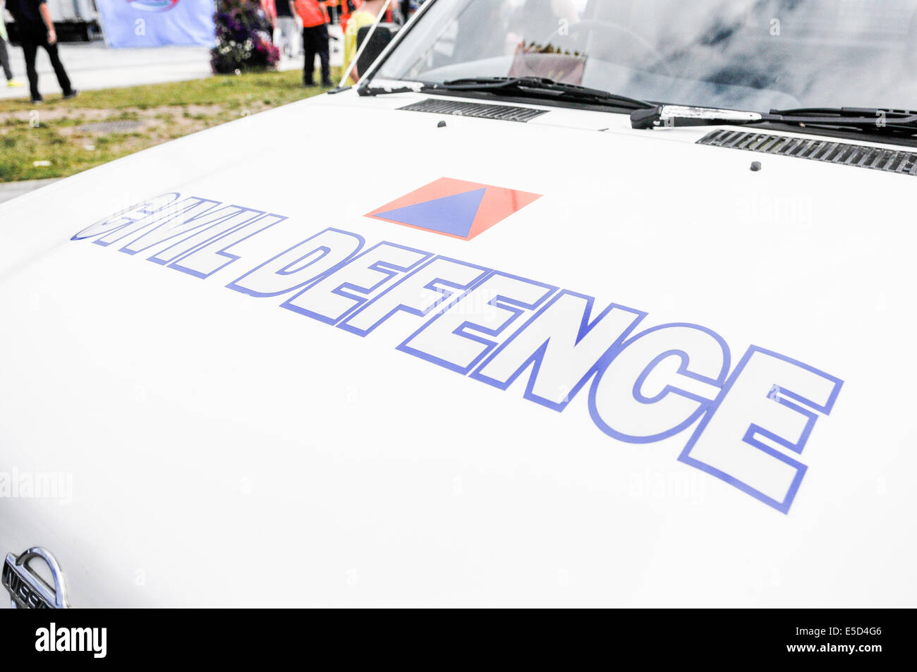Irish Civil Defence 4x4 vehicle. The Civil Defence provide assistance to the regular emergency services when required. - Stock Image
