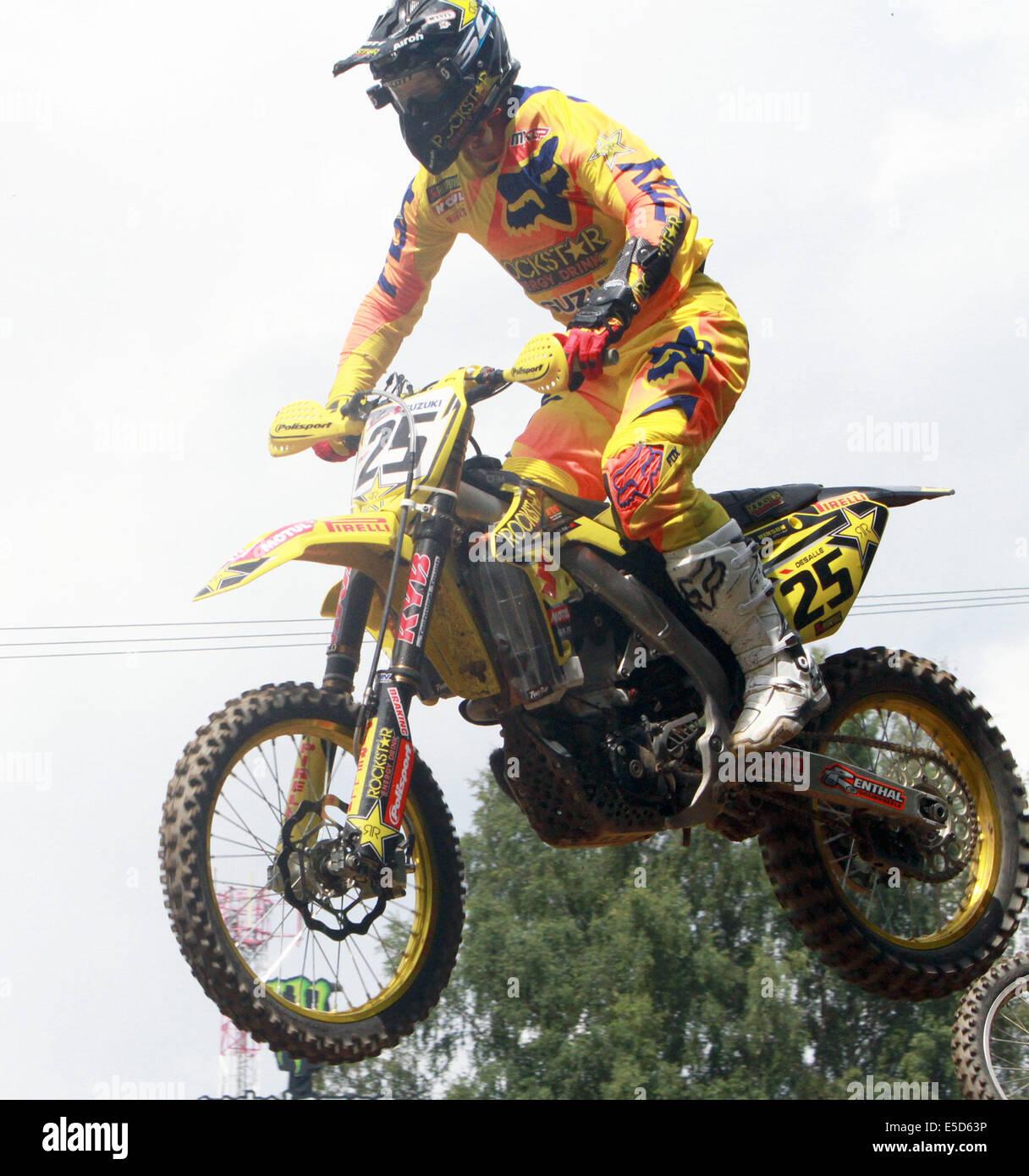 Loket, Czech Republic. 27th July, 2014. Clement DESALLE/BEL/Suzuki/Rockstar Energy Suzuki, .Czech Moto Cross Grand Stock Photo