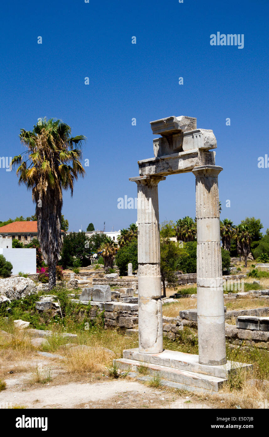 The Ancient Market Place, Kos Town, Kos Island, Dodecanese Islands, Greece. - Stock Image