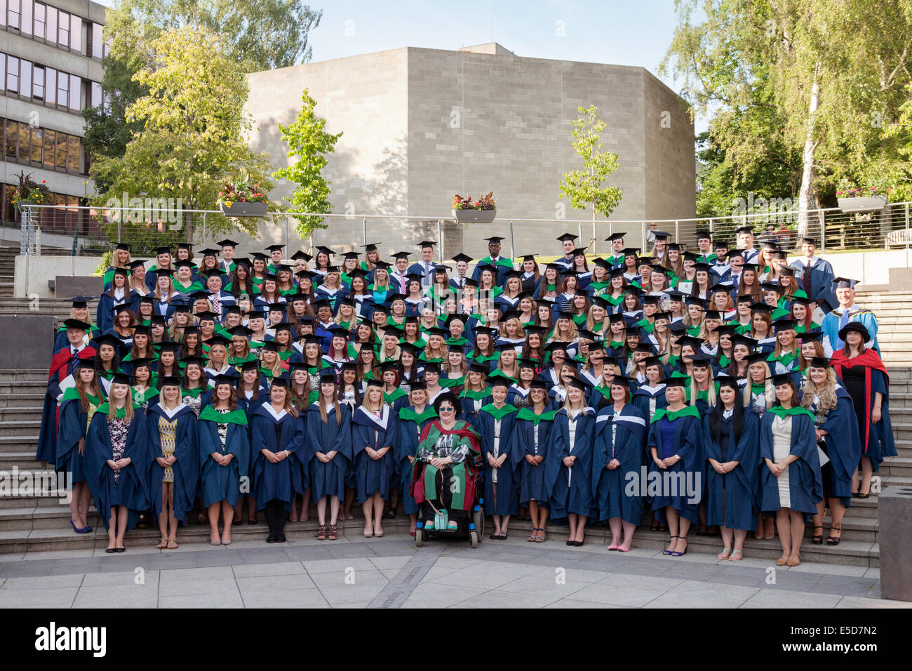 Nurses graduating on the nursing graduates cohort graduation day, UEA ( University of East Anglia ), Norwich England - Stock Image