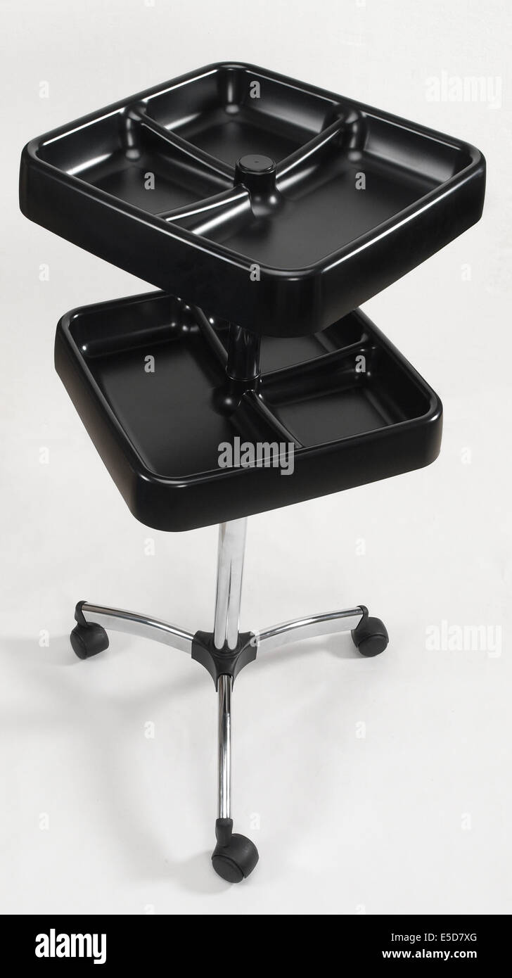 Hairdresser salon trolley cart - Stock Image