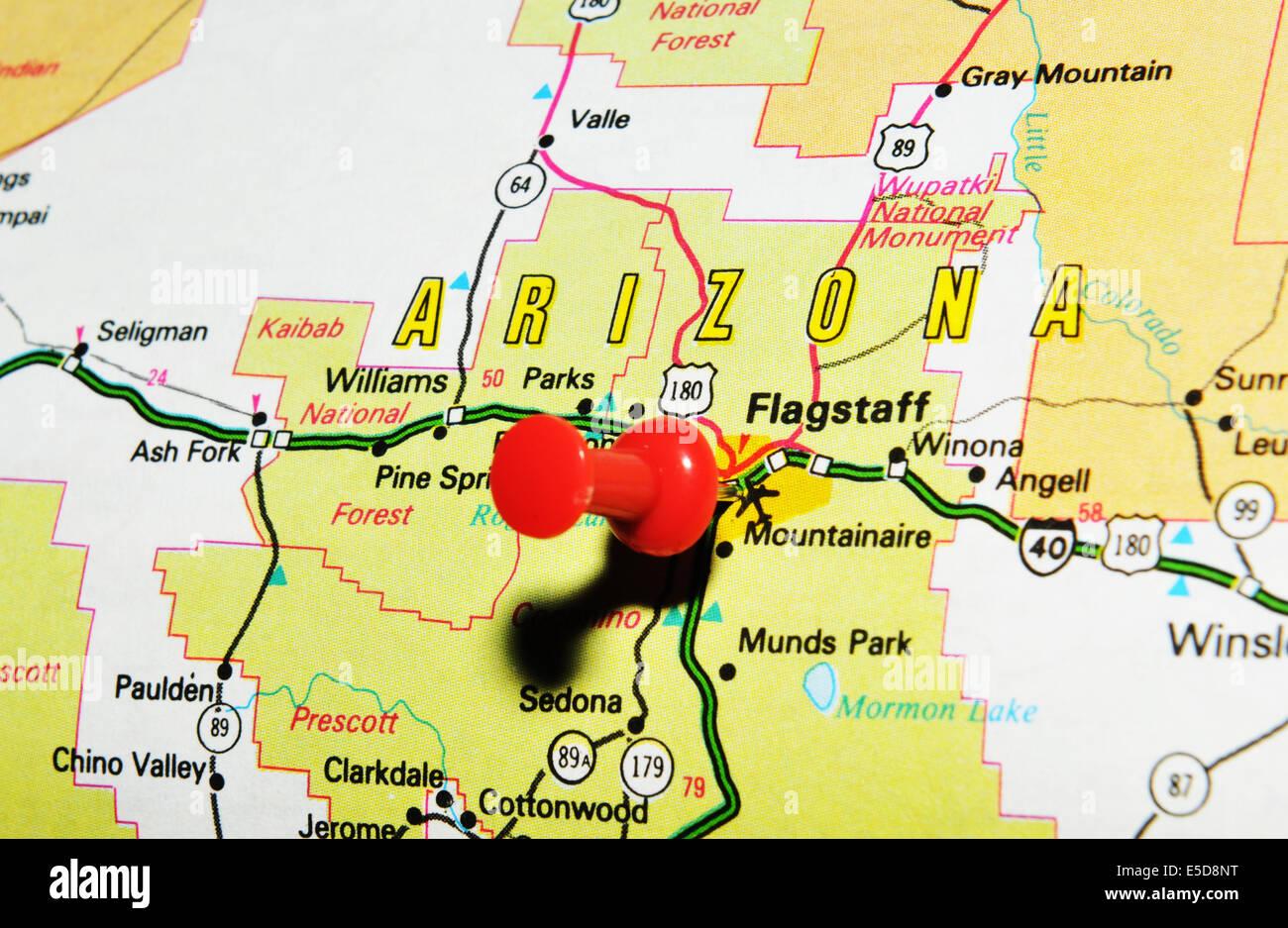 Map Arizona State United Stock Photos Map Arizona State United