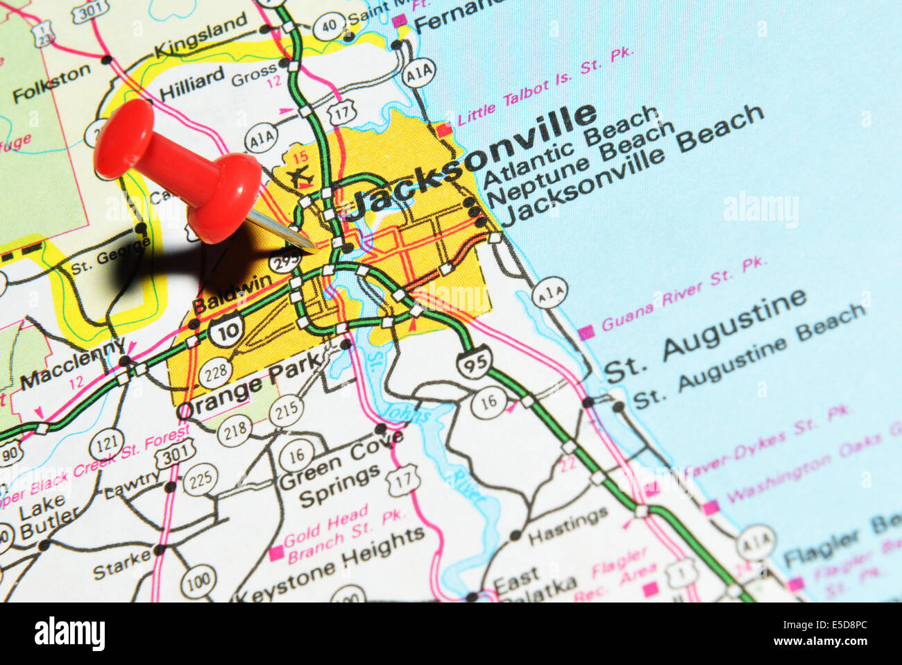 Map Of Jacksonville Stock Photos Map Of Jacksonville Stock Images