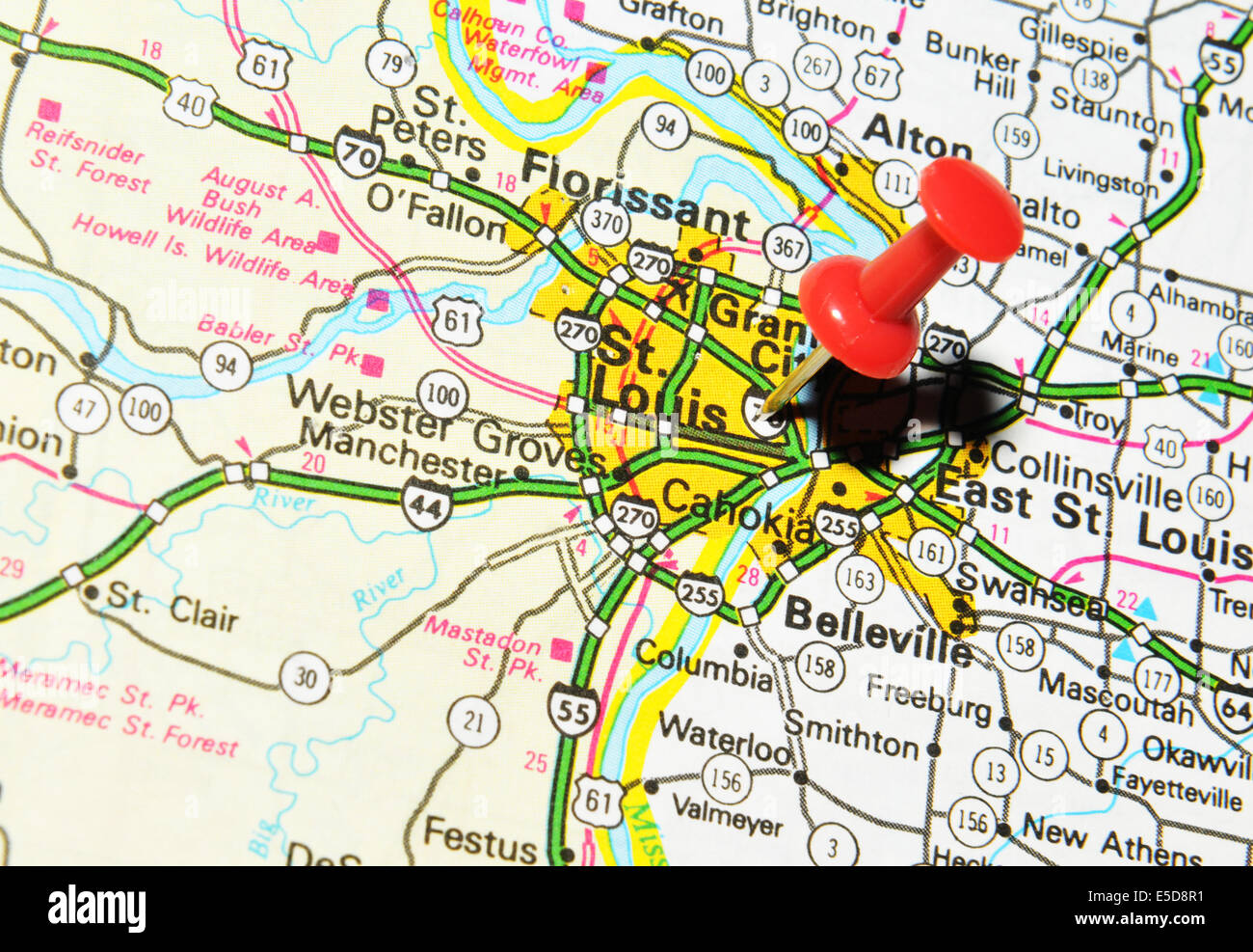 St. Louis on US map Stock Photo: 72207045 - Alamy