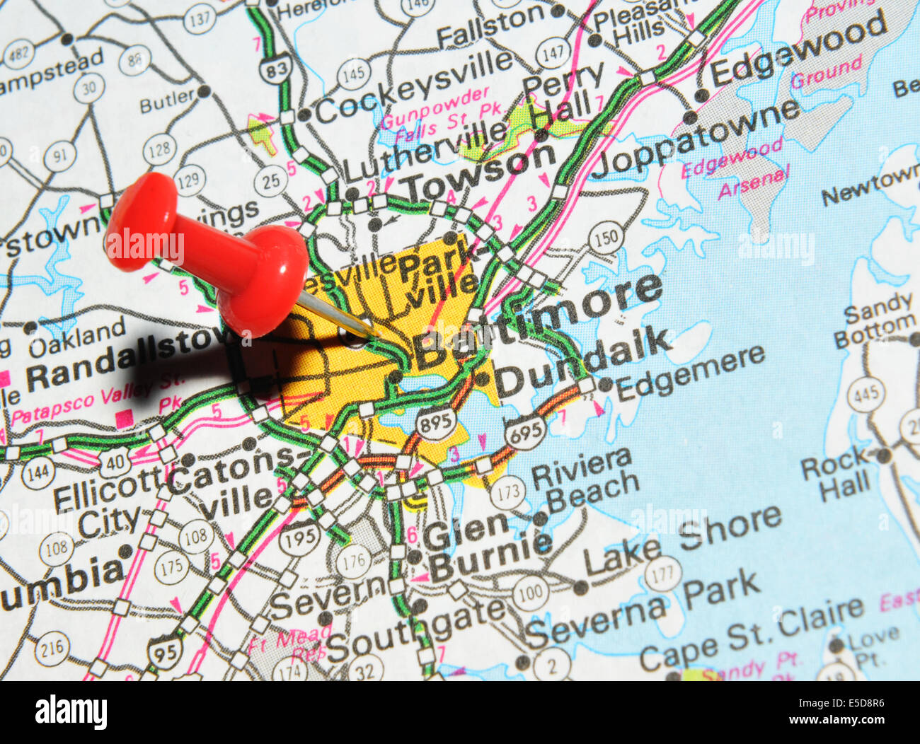 Baltimore On Map Baltimore on US map Stock Photo: 72207050   Alamy