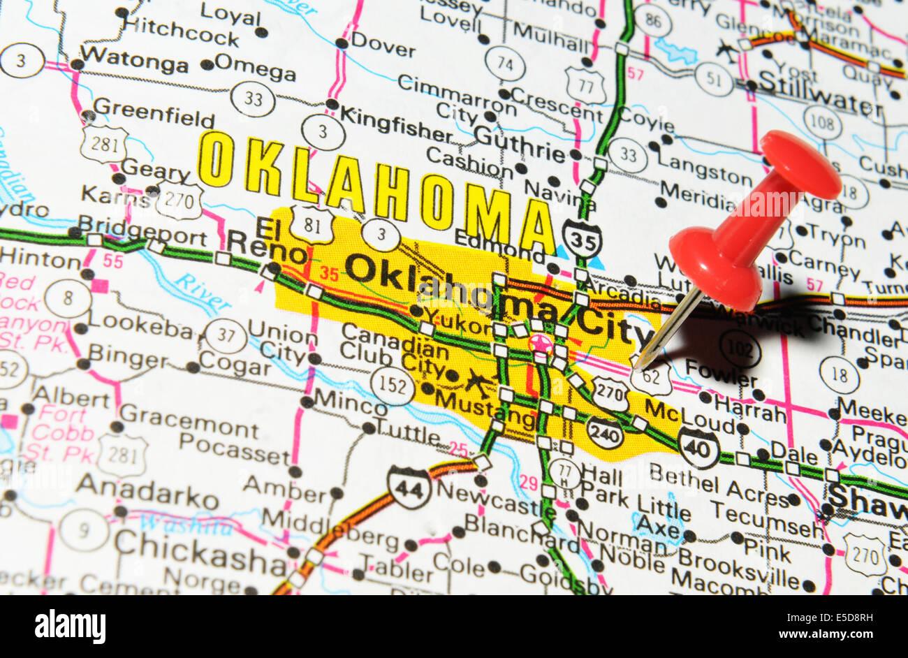 Oklahoma City On Us Map Stock Photo 72207061 Alamy - Oklahoma-on-the-us-map