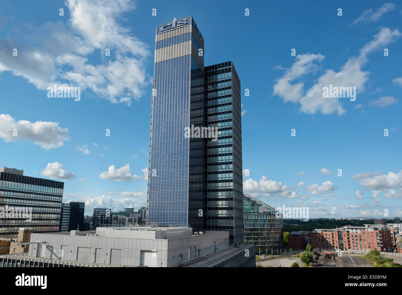 CIS Tower, home of Co-operative Insurance Society, located on Miller Street in Manchester city centre. - Stock Image