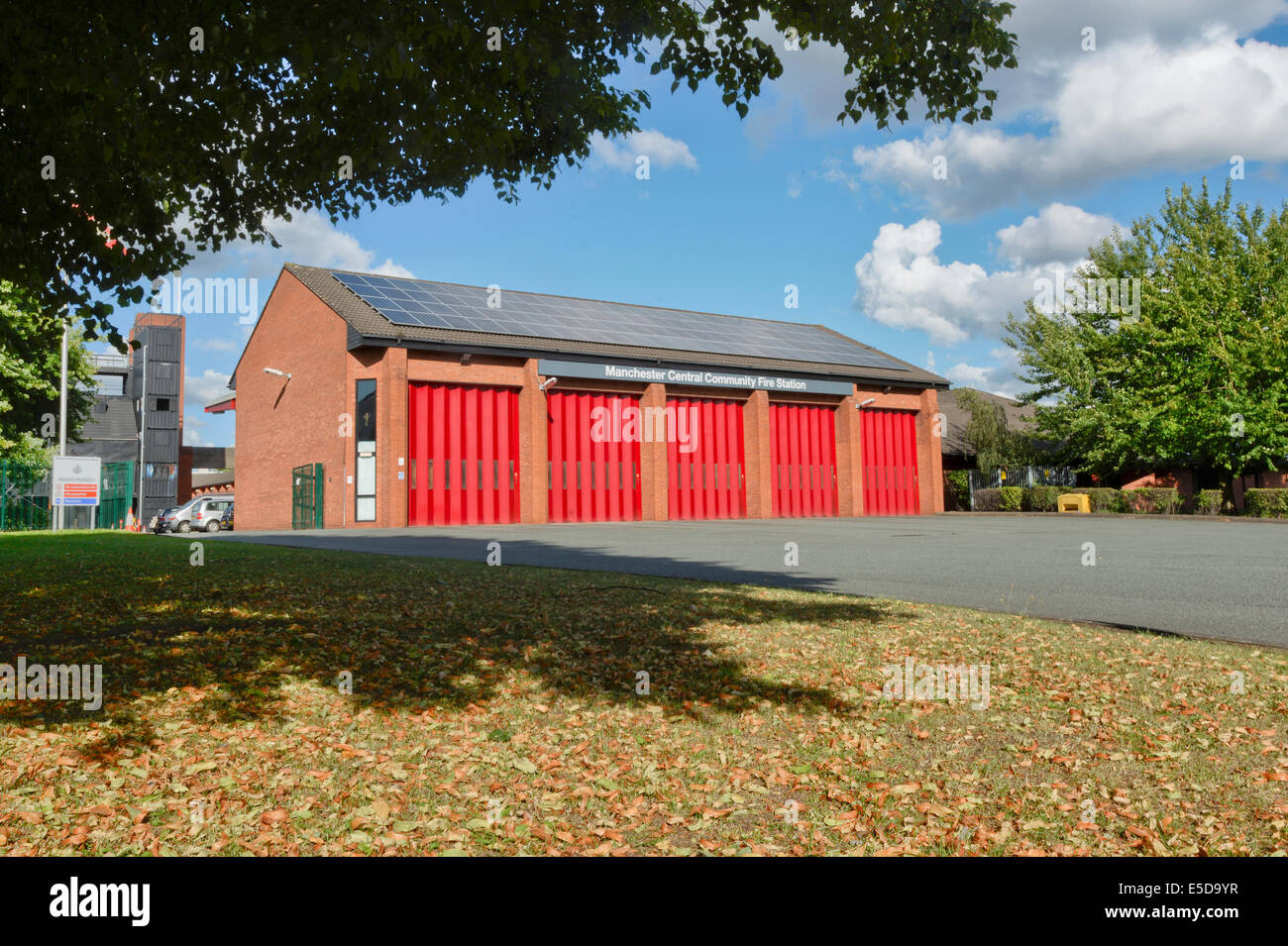 Manchester Central Fire Station located on Thompson Street in New Cross on the fringes of the city centre. - Stock Image