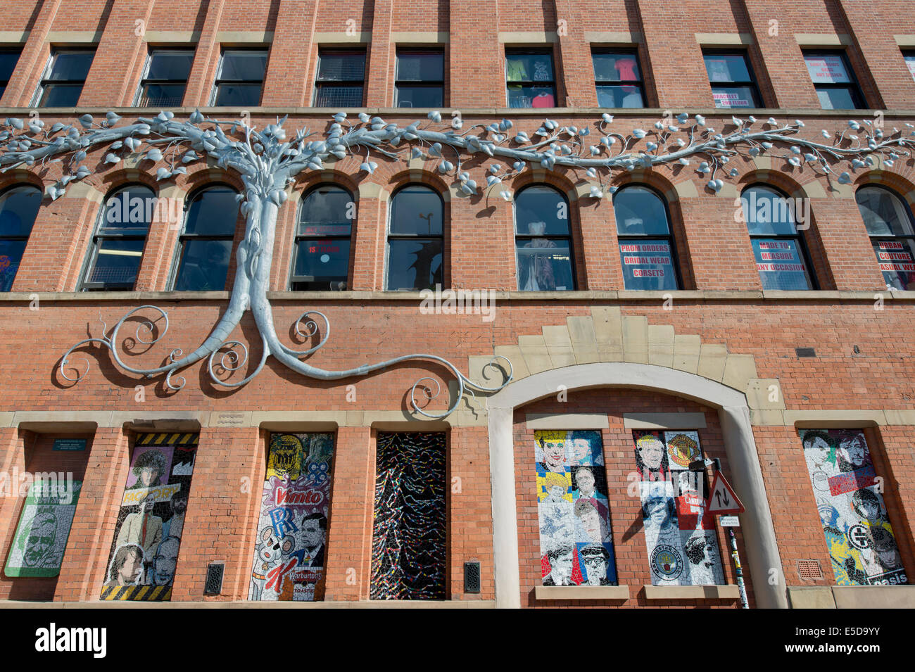 The Tib Street side of Afflecks (formerly Affleck's Palace) indoor market building located in the Northern Quarter - Stock Image