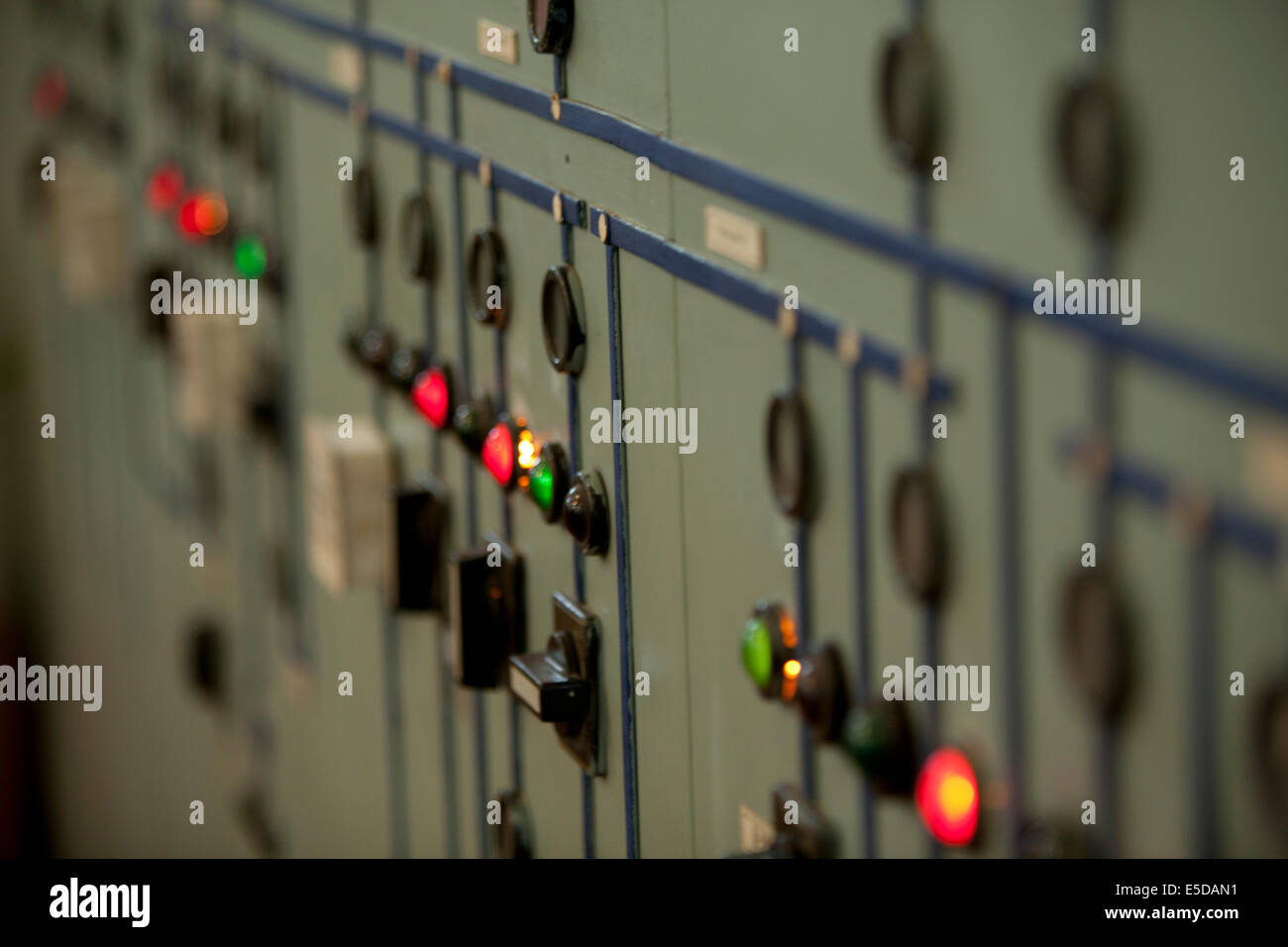 Russian old electrics power station circuits dials - Stock Image